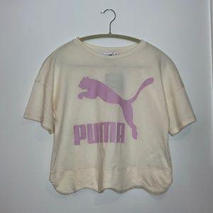 NWT Puma Scalloped Hem Tshirt XS Fits Small